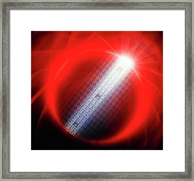 Semiconductor Wafer Framed Print by Alfred Pasieka