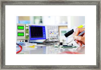 Semiconductor Framed Print by Wladimir Bulgar