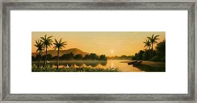 Seminole Sunset Framed Print by Jerry LoFaro
