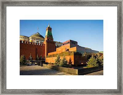 Senate Tower And Lenin's Mausoleum Framed Print by Alexander Senin