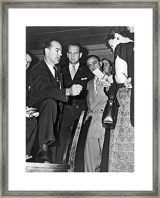 Senator Joseph R. Mccarthy Framed Print by Underwood Archives