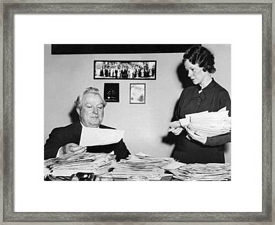 Senator Pat Mccarran Framed Print by Underwood Archives