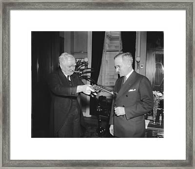 Senatorial Stickup Framed Print by Underwood Archives