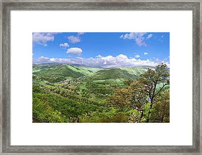 Seneca Rocks Overlook Framed Print by Mary Almond