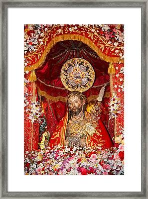 Senhor Santo Cristo Dos Milagres Framed Print by Gaspar Avila