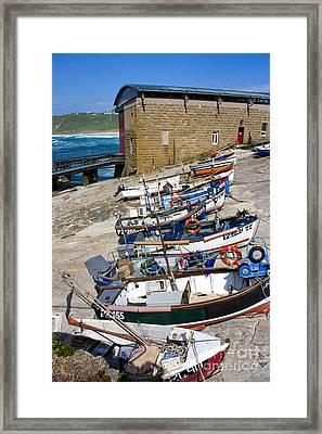 Sennen Cove Fishing Fleet Framed Print by Terri Waters