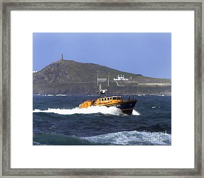 Sennen Cove Lifeboat Framed Print by Terri Waters