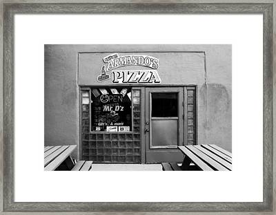Senor Armandos Pizza Framed Print by Ron Regalado