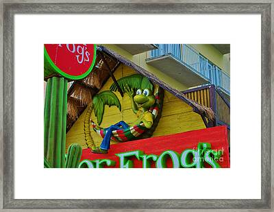A Happy Senor Frog In Nassau Framed Print by Bob Sample