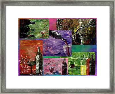Sensual Wine  Framed Print by Mark Moore