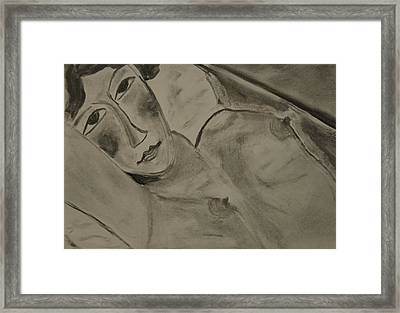 Sensual Woman Framed Print by Daniele Fedi
