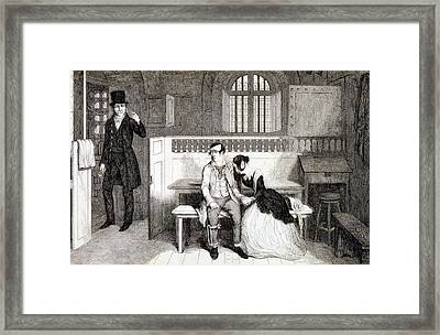 Sentenced To Transportation, Plate 6 Framed Print by George Cruikshank
