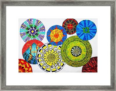 Sentient Mandalas Framed Print by Maxwell Hanson