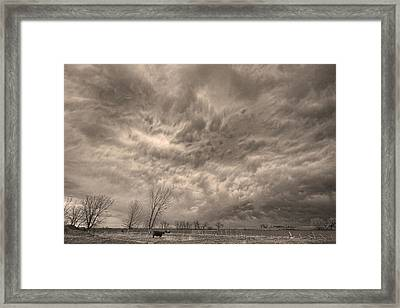 Sepia Angry Skies Framed Print by James BO  Insogna