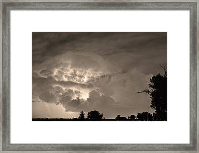 Sepia Light Show Framed Print by James BO  Insogna