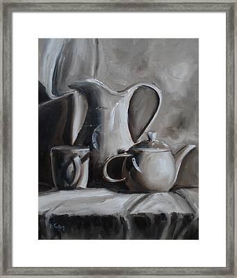 Sepia Still Life Framed Print by Donna Tuten