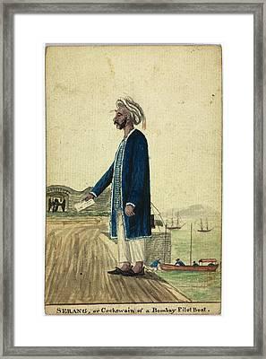 Serang Of A Bombay Pilot Boat Framed Print by British Library