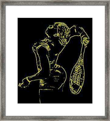 Serena Glowing Catsuit Framed Print by Brian Reaves