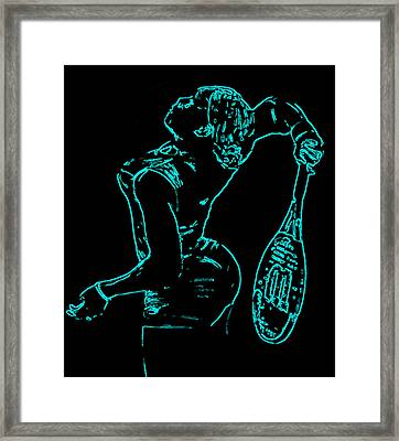 Serena Glowing Catsuit II Framed Print by Brian Reaves