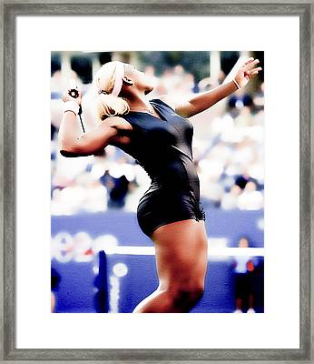 Serena Williams Catsuit Framed Print by Brian Reaves