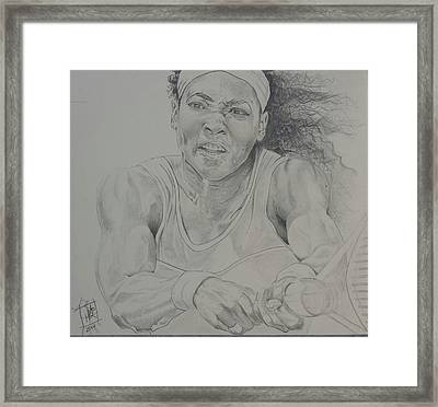 Serena Williams Framed Print by DMo Herr
