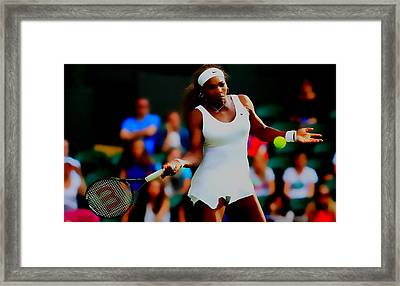 Serena Williams Making It Look Easy Framed Print by Brian Reaves