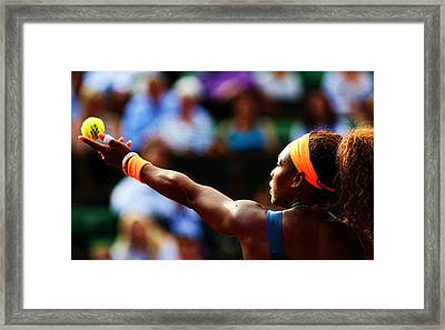 Serena Williams Framed Print by Srdjan Petrovic