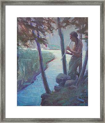 Serenade To The Night Framed Print by Ernest Principato