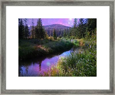 Serene Mountain Moment Framed Print by Shirley Sirois