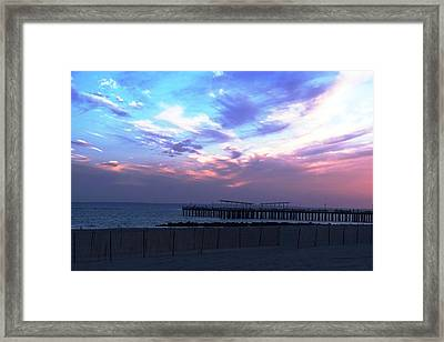 Serene Sunset Framed Print by Mary Ann D Brairton