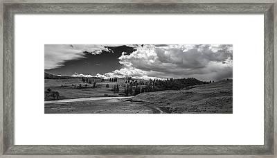 Serene Valley Framed Print by Jon Glaser