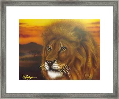 Serengeti King Framed Print by Darren Robinson