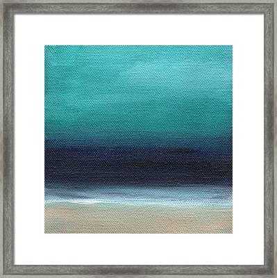 Serenity- Abstract Landscape Framed Print by Linda Woods