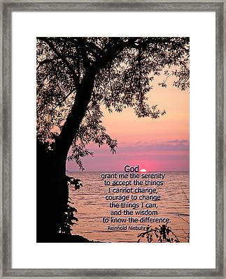 Serenity Framed Print by Aimee L Maher Photography and Art Visit ALMGallerydotcom