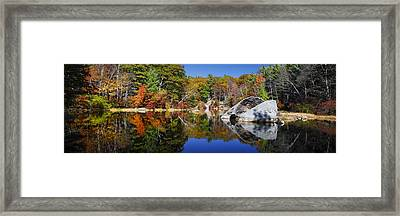 Serenity By The Pond Framed Print by Dominique Dubied