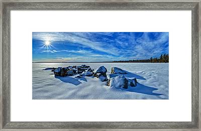 Serenity In Snow Framed Print by Bill Caldwell -        ABeautifulSky Photography