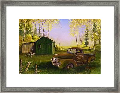 Serenity One O One Framed Print by Whitey Thompson