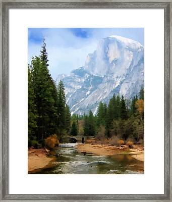 Serenity Framed Print by Oscar Franco
