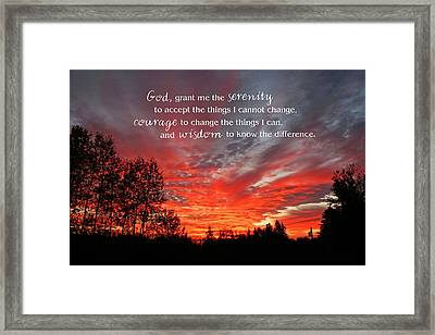 Serenity Prayer Framed Print by Barbara West