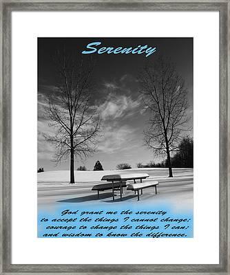 Serenity Prayer Framed Print by Dan Sproul