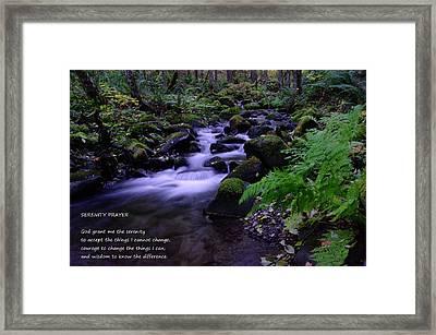Serenity Prayer  Framed Print by Jeff Swan