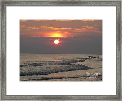 Serenity Sunset Framed Print by Michelle Powell