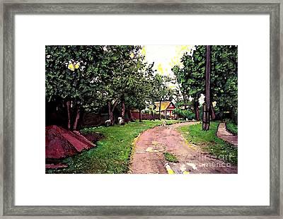 Sergeiev Posad Framed Print by Sarah Loft