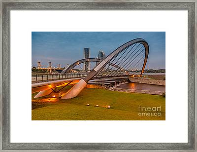 Seri Empangan Bridge Framed Print by Adrian Evans