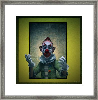 Serious Discourse Framed Print by Ramon Martinez