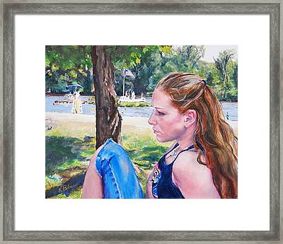 Serious Moment Framed Print by Kay Bohren