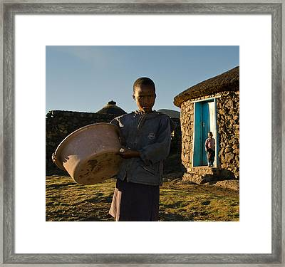Serious Morning Framed Print by Aaron S Bedell