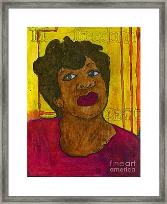 Seriously Framed Print by Angela L Walker