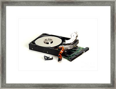 Seriously Crashed Hard Drive Framed Print by Olivier Le Queinec