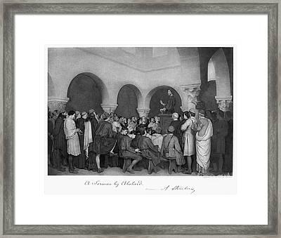 Sermon By Abelard Framed Print by Granger